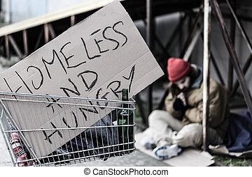 "hungry"", ""homeless, 印"