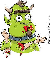 Hungry Troll - A hungry, cartoon troll feasts on human body...