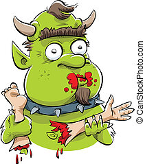Hungry Troll - A hungry, cartoon troll feasts on human body...