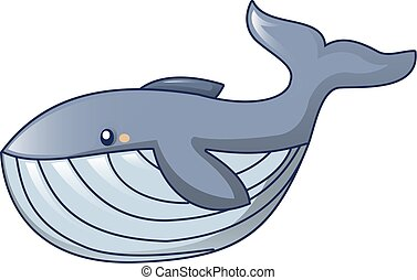 Hungry whale icon, cartoon style - Hungry whale icon....