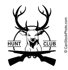 Hunt club label badge