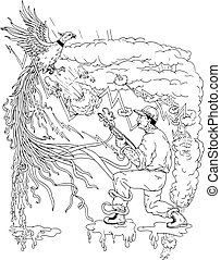 Hunter and Pheasant Ukiyo-e - Ukiyo-e or ukiyo style...