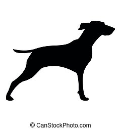 Hunter dog or gundog icon black color icon - Hunter dog or...
