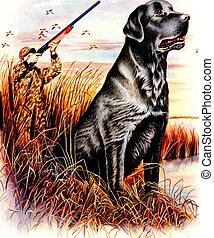 Hunter - And his dog.