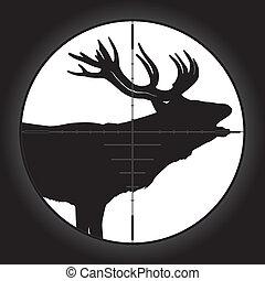 Hunter Scope - Hunter sniper scope crosshair aiming elk