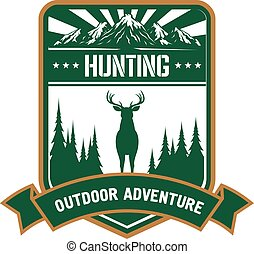 Hunting and adventure icon for sporting design