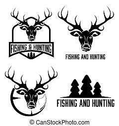 hunting and fishing vintage set