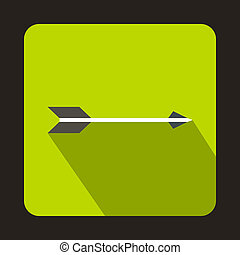Hunting arrow icon, flat style
