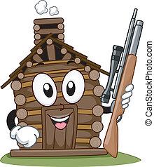 Hunting Cabin Mascot