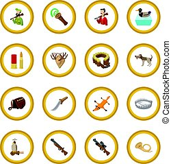 Hunting cartoon icon circle