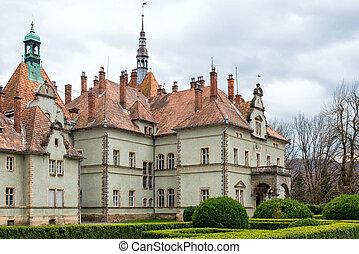 Hunting castle of Count Schonborn in Carpaty. In the past - Beregvar Village, Zakarpattja Region, Ukraine. Built in 1890.