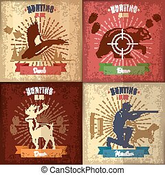 Hunting Club Emblems Set