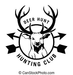 Hunting club label badge