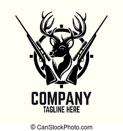 Hunting deer logo
