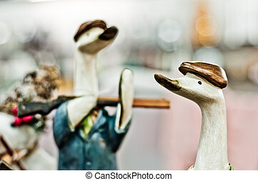 Hunting ducks background