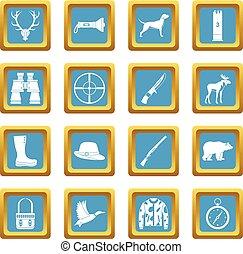 Hunting icons azure