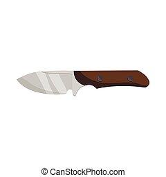 Hunting knife icon, cartoon style