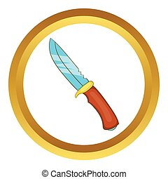 Hunting knife vector icon