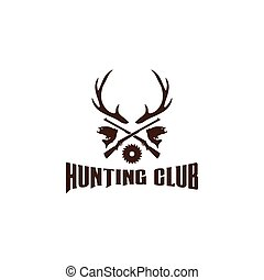 Hunting logo design template