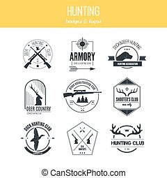 Hunting Logos - Hunting club label collecton made in vector...