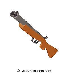 Hunting rifle cartoon icon