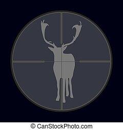 hunting season with deer