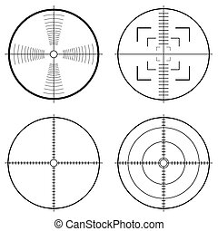 hunting sight tragets - Illustration of a hunting sight with...