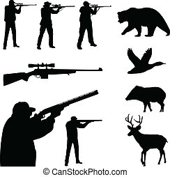 Hunting silhouettes - Hunting collection silhouettes -...