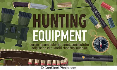Hunting sport equipment and ammunition