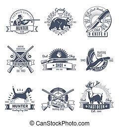 Hunting Vintage Style Emblems
