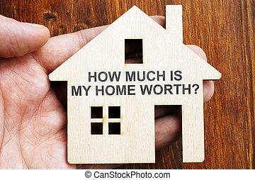 hur, house., underteckna, worth?, mycket, hem, modell, min