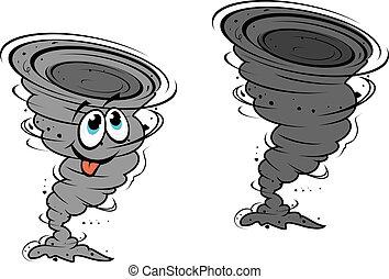 huracán, caricatura