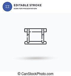 Hurdle icon vector, filled flat sign, solid pictogram isolated on white, logo illustration. Hurdle icon for presentation.