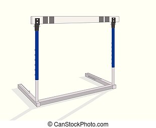 hurdle isolated on a white background with shadow