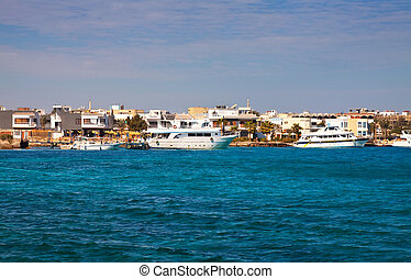 Hurghada from Red sea.  Egypt