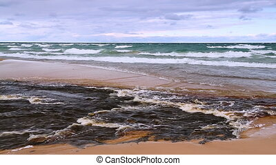 Huricane River and Lake Superior - The Hurricane River flows...
