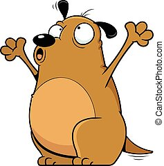 hurlement, dessin animé, chien