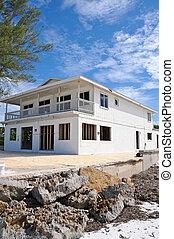 Hurricane Damaged Beach House