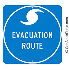 Hurricane Evacuation Route Sign - Hurricane Evacuation Sign...