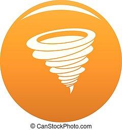 Hurricane icon vector orange