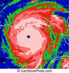 hurricane on the monitor