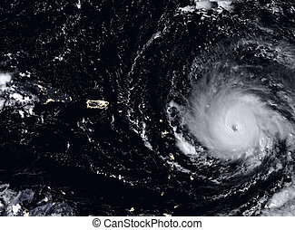 Hurricane Irma seen from the space. Elements of this image...