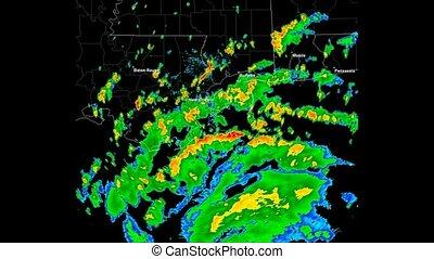 Hurricane Katrina (2005) Landfall - Time Lapse Doppler Radar...