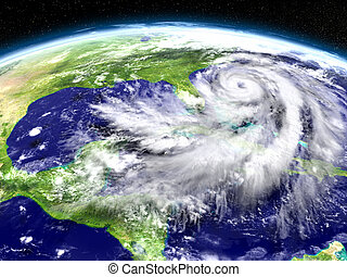 Hurricane Matthew approaching Florida - Huge hurricane seen...