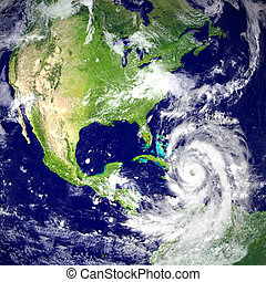 Hurricane Matthew - Huge hurricane Matthew near Florida in...