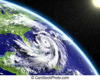 Hurricane Matthew eye - Spectacular satellite view of...