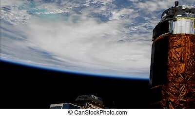 Hurricane Michael From International Space Station. Elements...