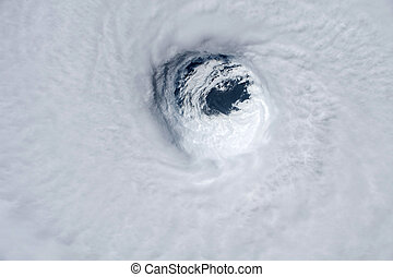 Hurricane Michael from space. Elements of this image are...