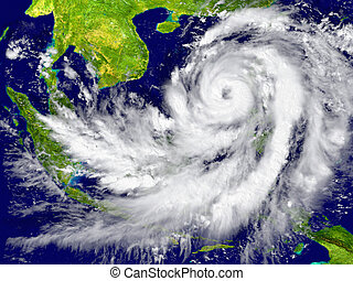 Hurricane near Southeast Asia - Huge hurricane near ...