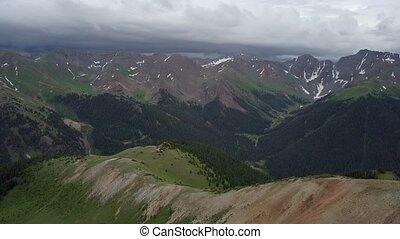 Hurricane Pass Beautiful Aerial Shot of a Colorado Mountains